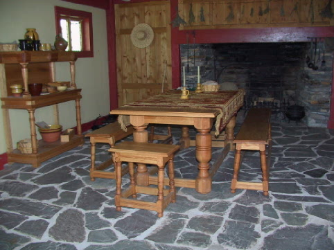 Replica of a kitchen from the 1600s